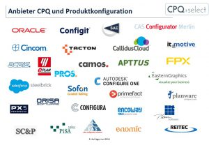 Anbieter Produktkonfiguration, CPQ und Produktkonfigurator